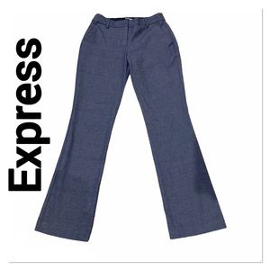 EXPRESS Blue Columnist Barely Boot Mid Rise Pants